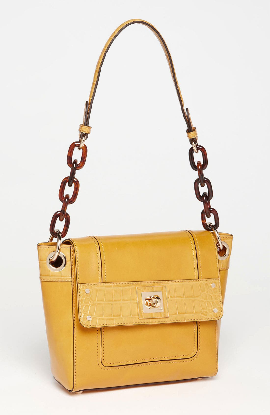 Alternate Image 1 Selected - Milly 'Amelia' Shoulder Bag with Croc Embossed Trim