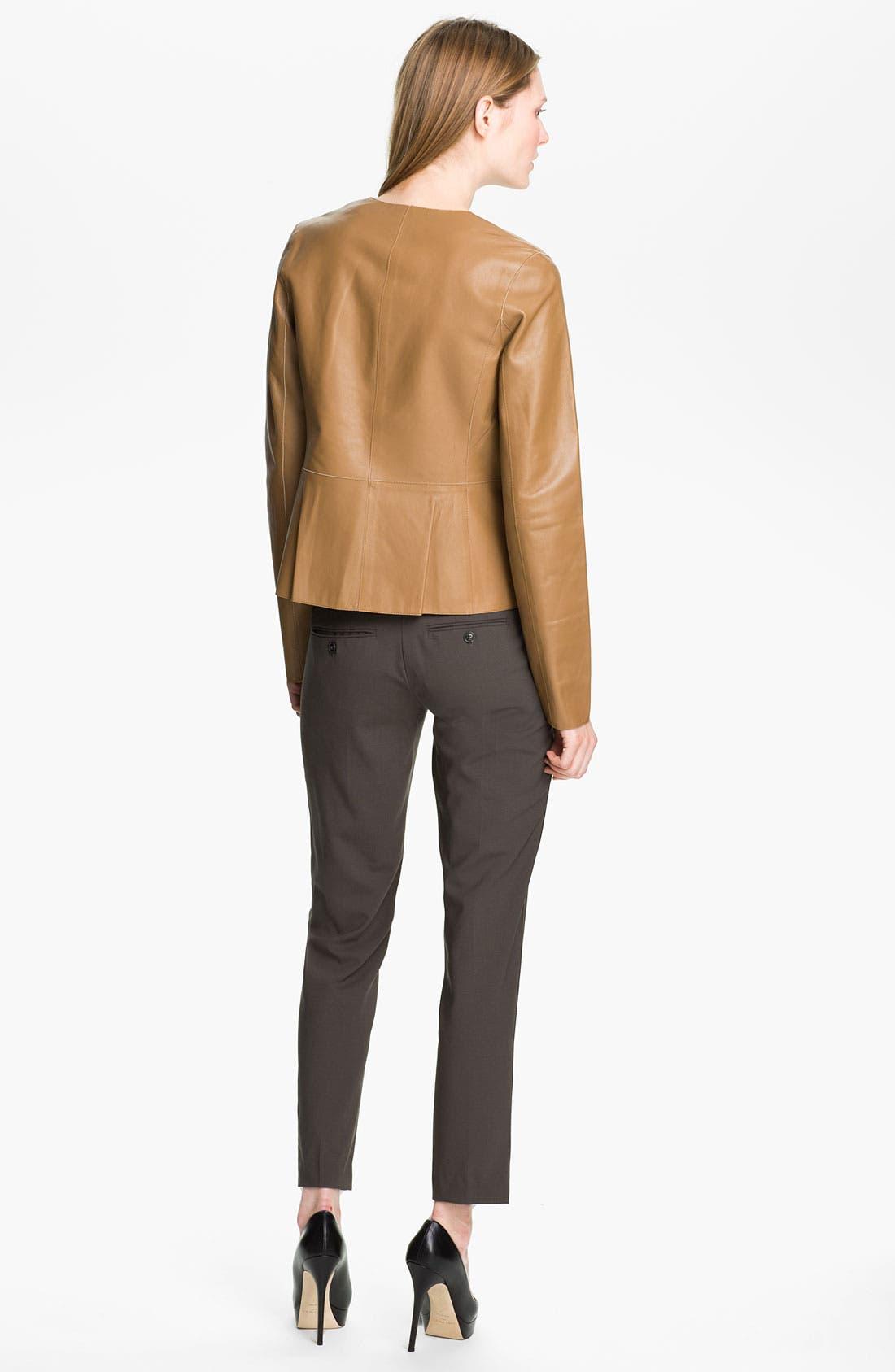 Alternate Image 2  - Vince Snap Front Leather Jacket