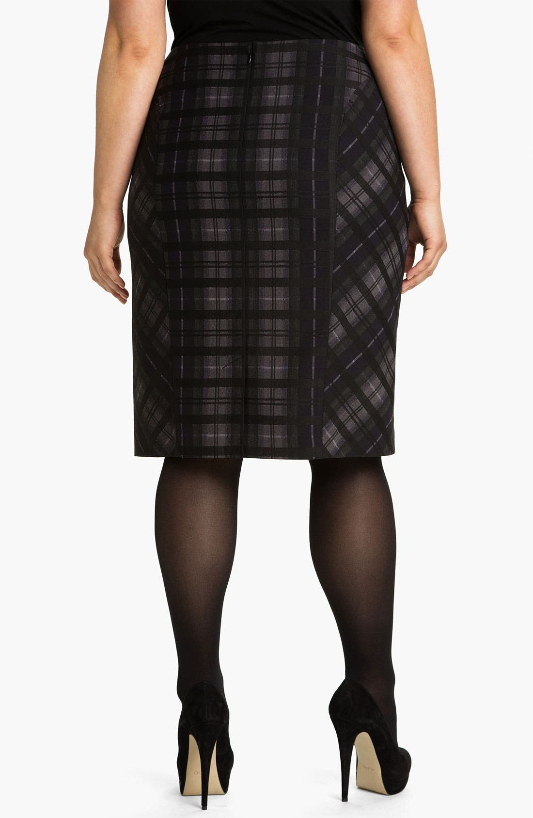 Alternate Image 2  - Sejour Plaid Pencil Skirt (Plus)