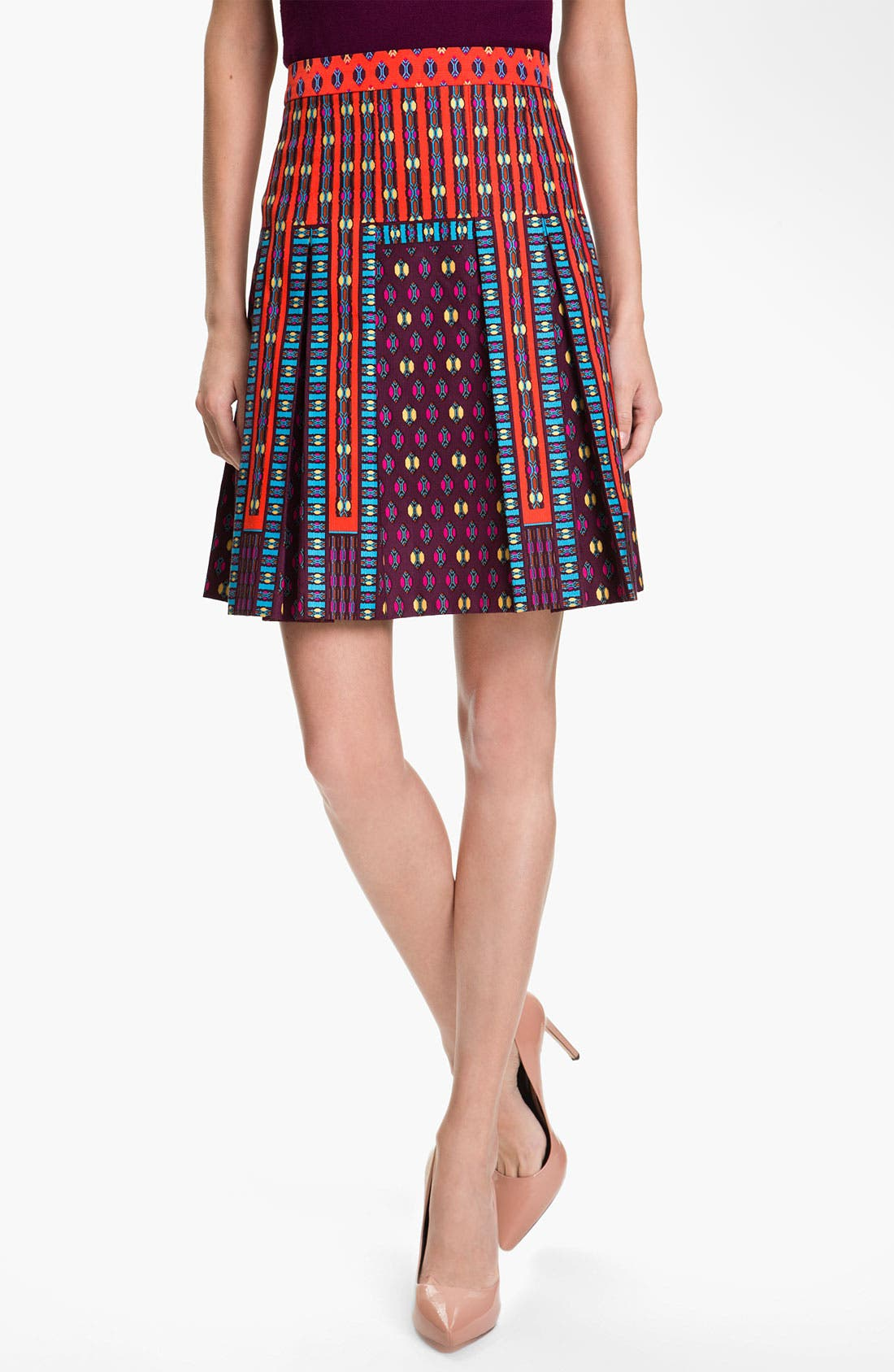 Alternate Image 1 Selected - Nanette Lepore 'Universe' Pleated A-Line Skirt