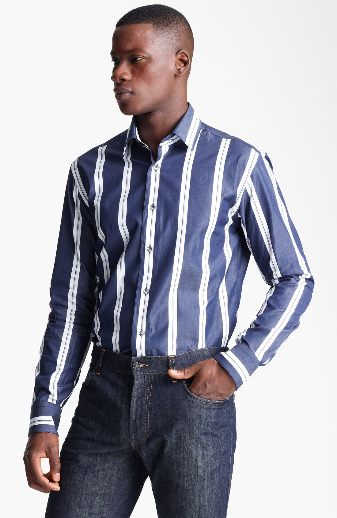 Alternate Image 1 Selected - Salvatore Ferragamo Regular Fit Sport Shirt