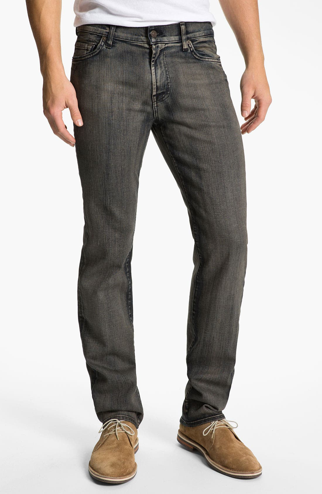 Alternate Image 2  - 7 For All Mankind® 'Slimmy' Slim Straight Leg Jeans (Shadow Cliff)