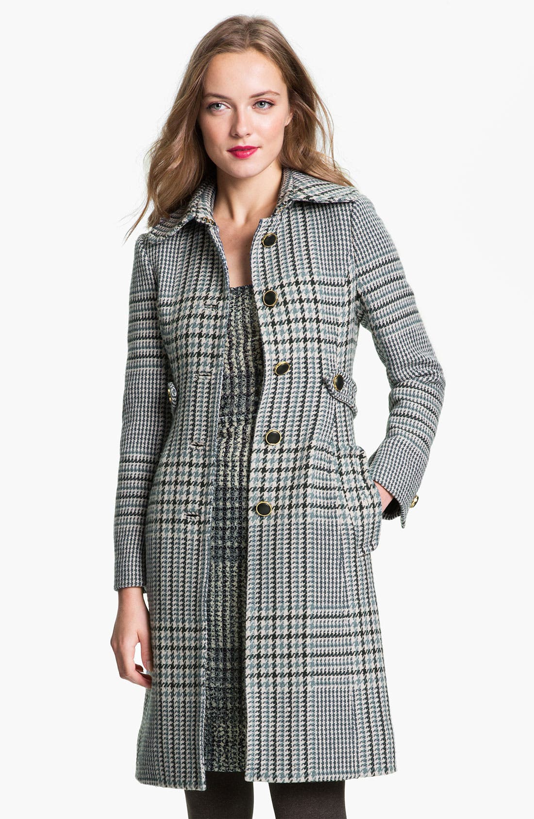 Main Image - Tory Burch 'Virginia' Houndstooth Coat