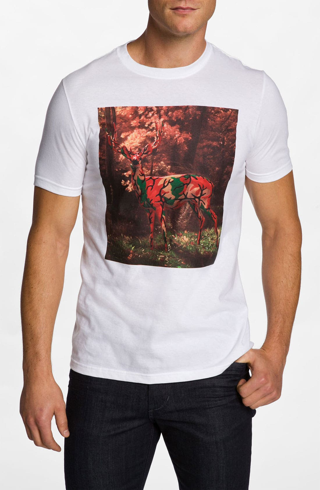 Alternate Image 1 Selected - Hurley 'Camo Deer' Graphic T-Shirt
