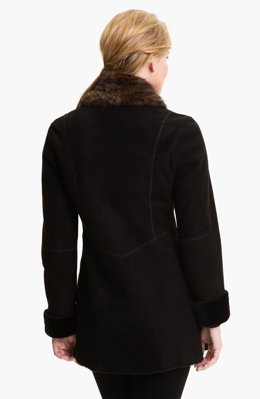 Alternate Image 2  - HIDESOCIETY Genuine Shearling Coat with Genuine Mink Trim