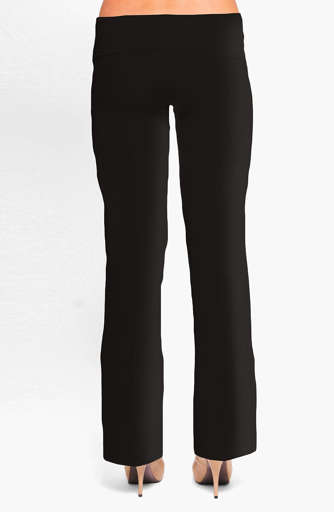 Alternate Image 2  - Olian 'Kate' Maternity Straight Leg Woven Pants