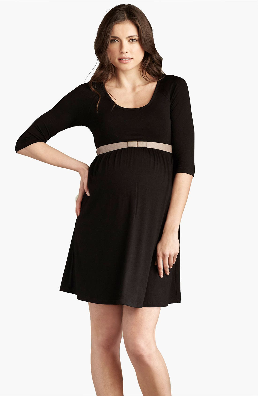 Main Image - Maternal America Maternity Belted Dress
