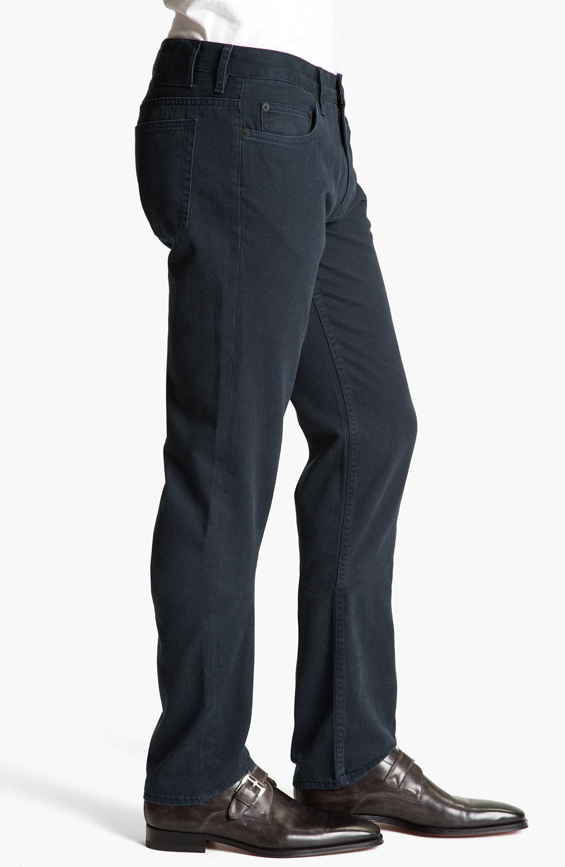 Alternate Image 4  - MARC BY MARC JACOBS Slim Straight Leg Jeans (Darkest Teal)