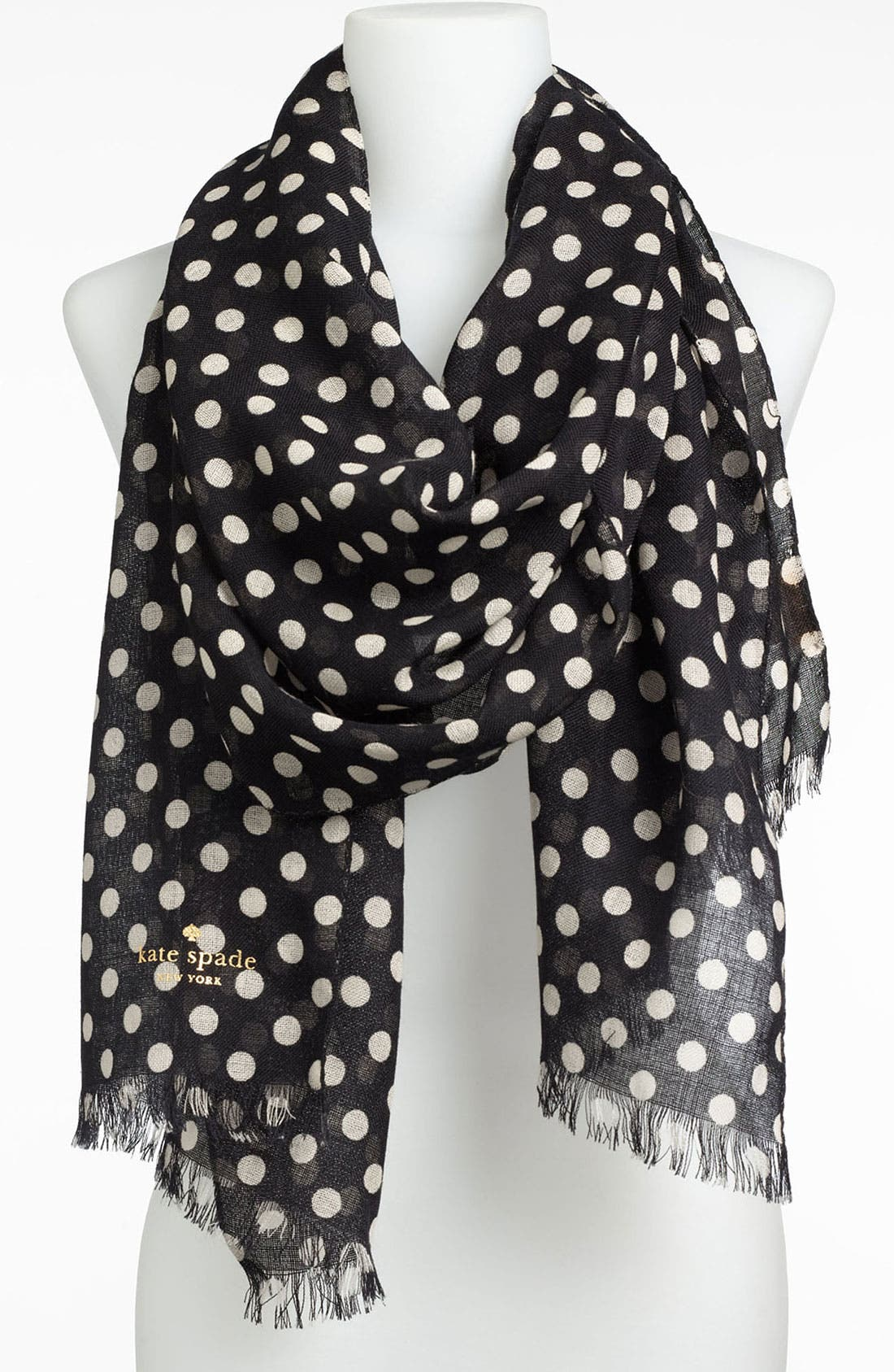 Main Image - kate spade new york 'picture dot' wool scarf