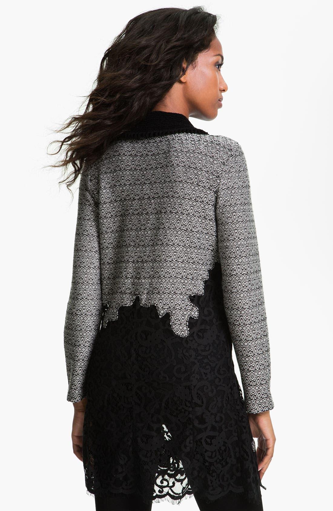 Alternate Image 2  - Nic + Zoe Lace Trim Sweater Jacket
