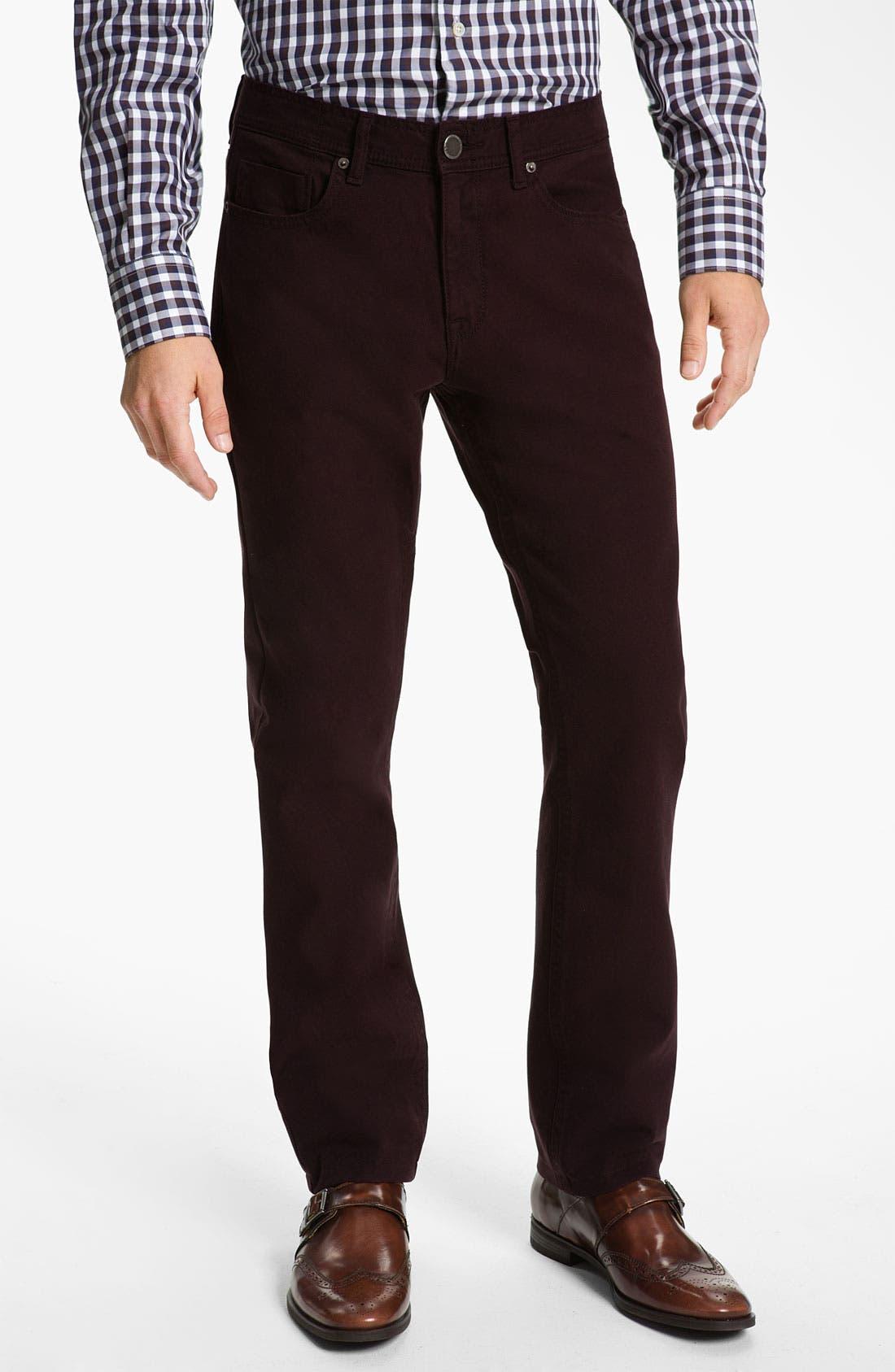 Alternate Image 1 Selected - DL1961 'Vince' Straight Leg Jeans (Redwood) (Online Only)
