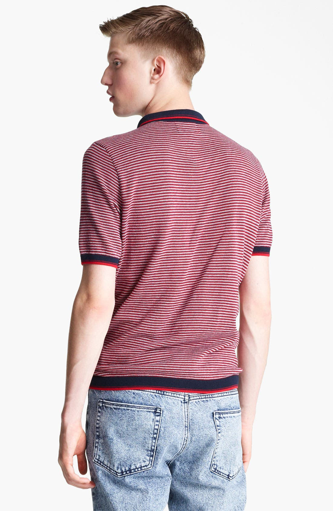 Alternate Image 2  - Topman Stripe Knit Polo