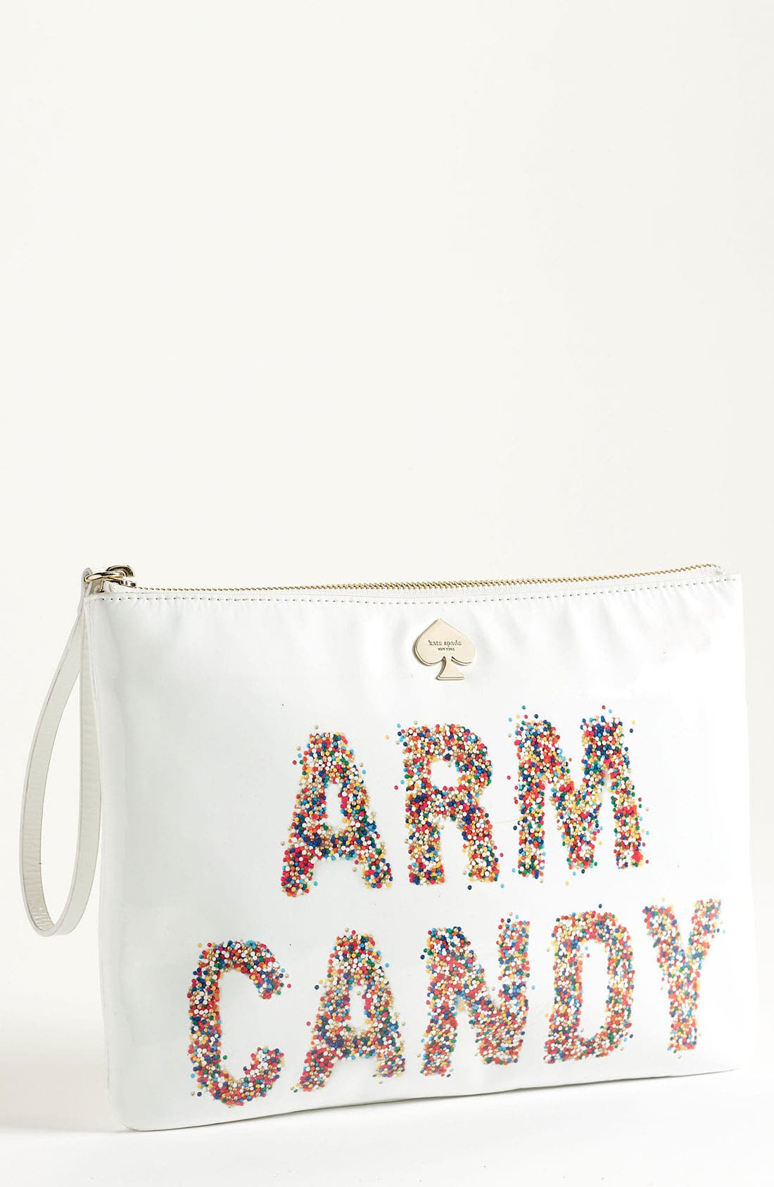 Main Image - kate spade new york 'arm candy' leather pouch