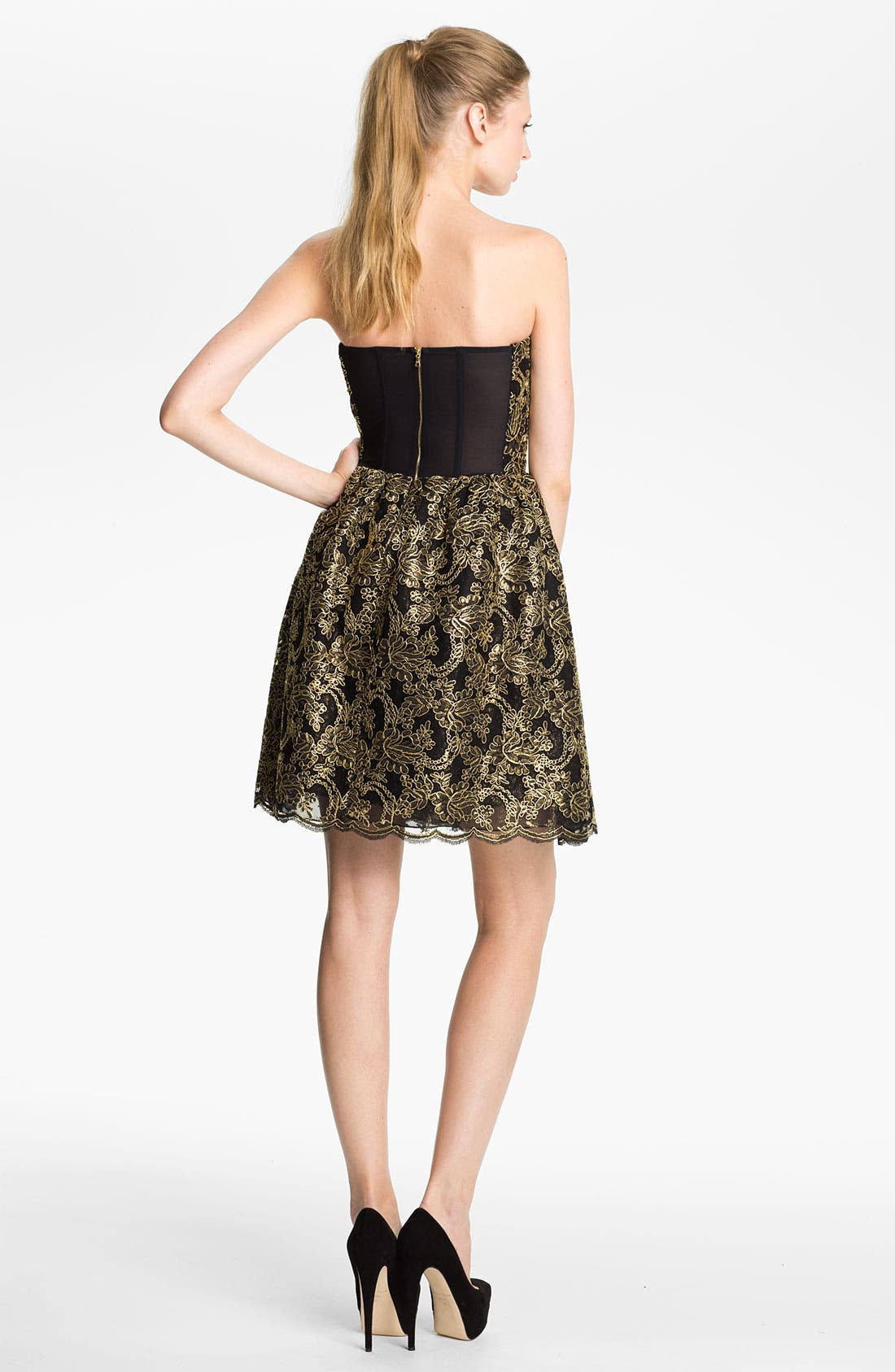 Alternate Image 2  - Alice + Olivia 'Caryn' Full Skirt Dress