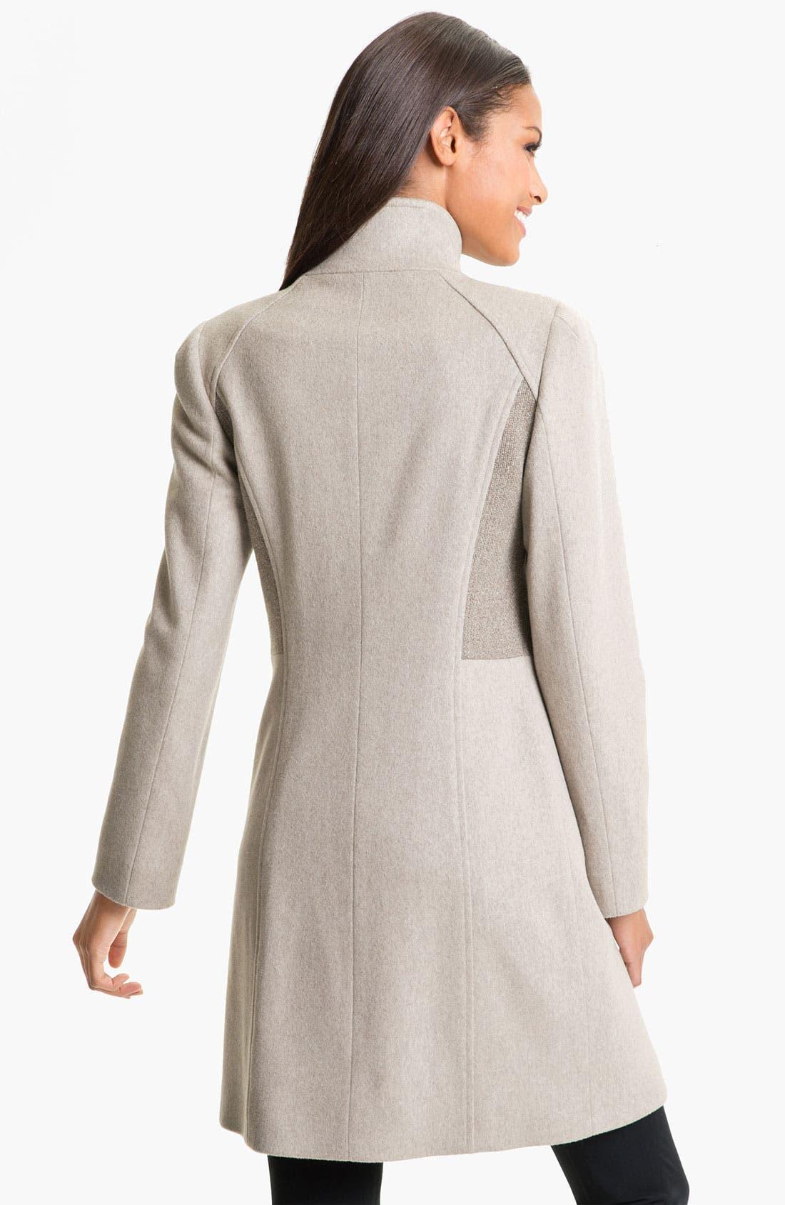 Alternate Image 2  - Cinzia Rocca Mix Texture Wool Coat