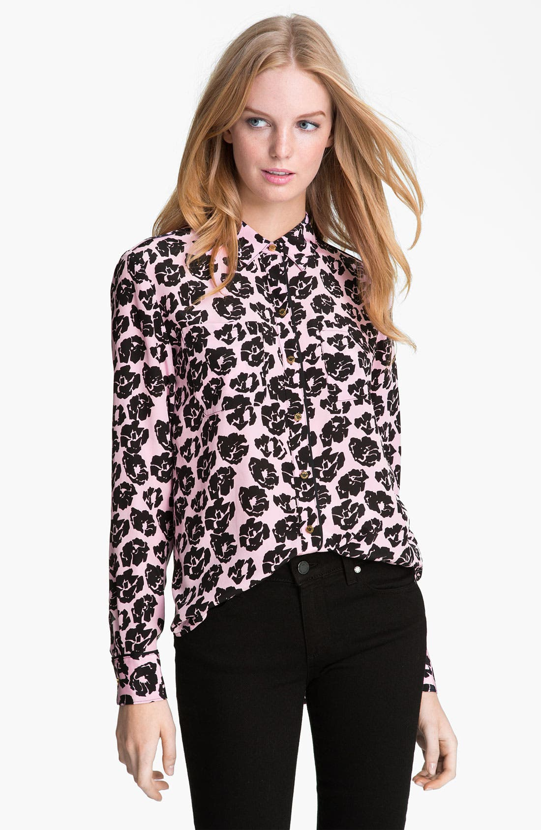 Alternate Image 1 Selected - Juicy Couture Rose Print Shirt