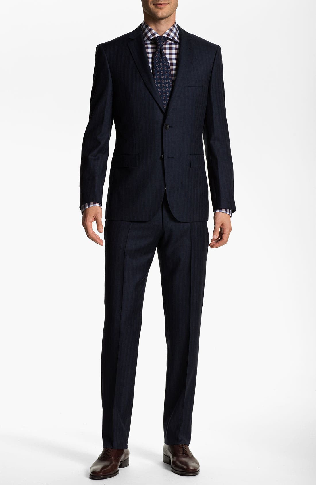 Alternate Image 2  - BOSS Selection 'Howard/Court' Trim Fit Herringbone Suit