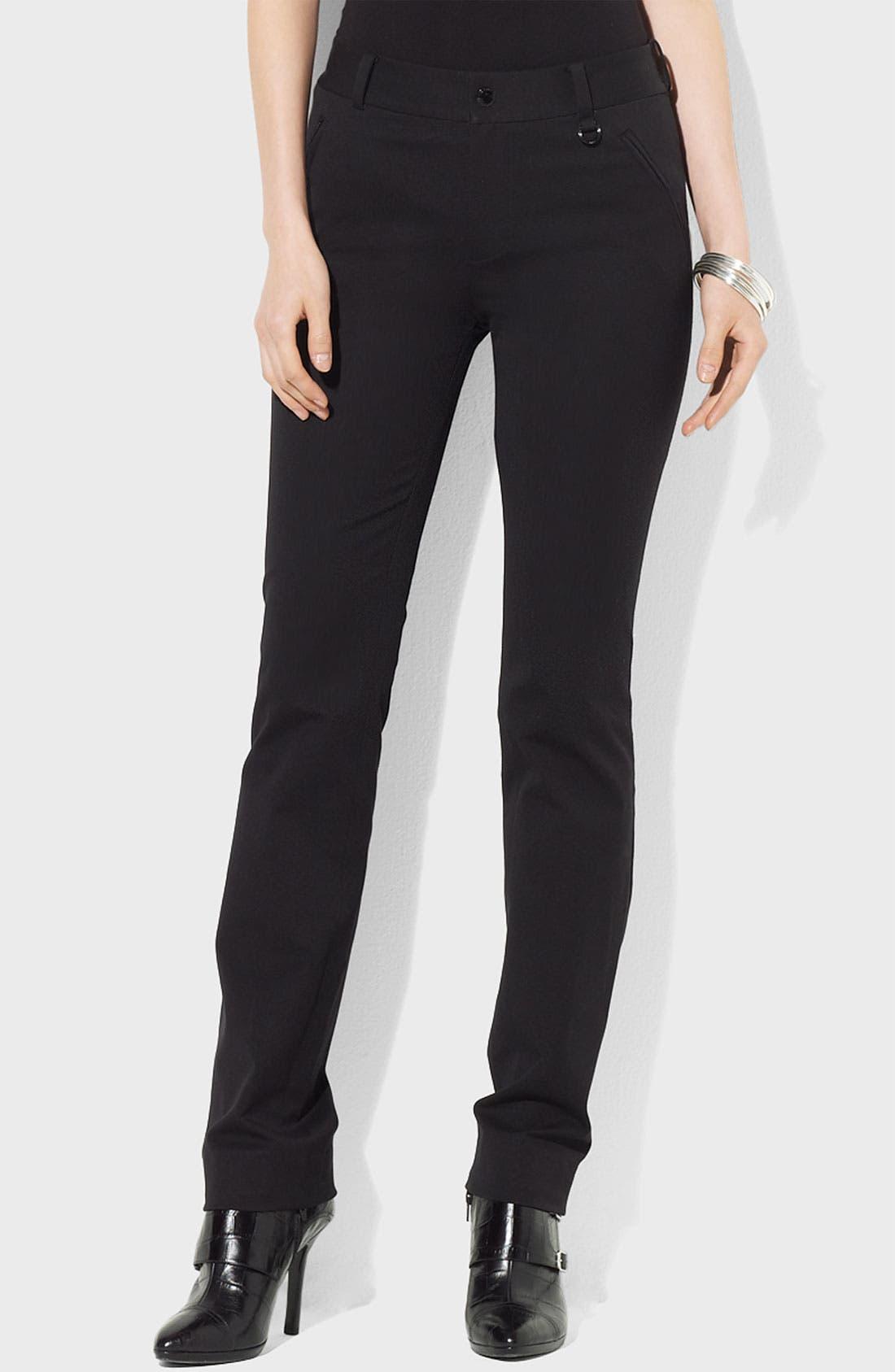 Alternate Image 1 Selected - Lauren Ralph Lauren Slim Twill Pants