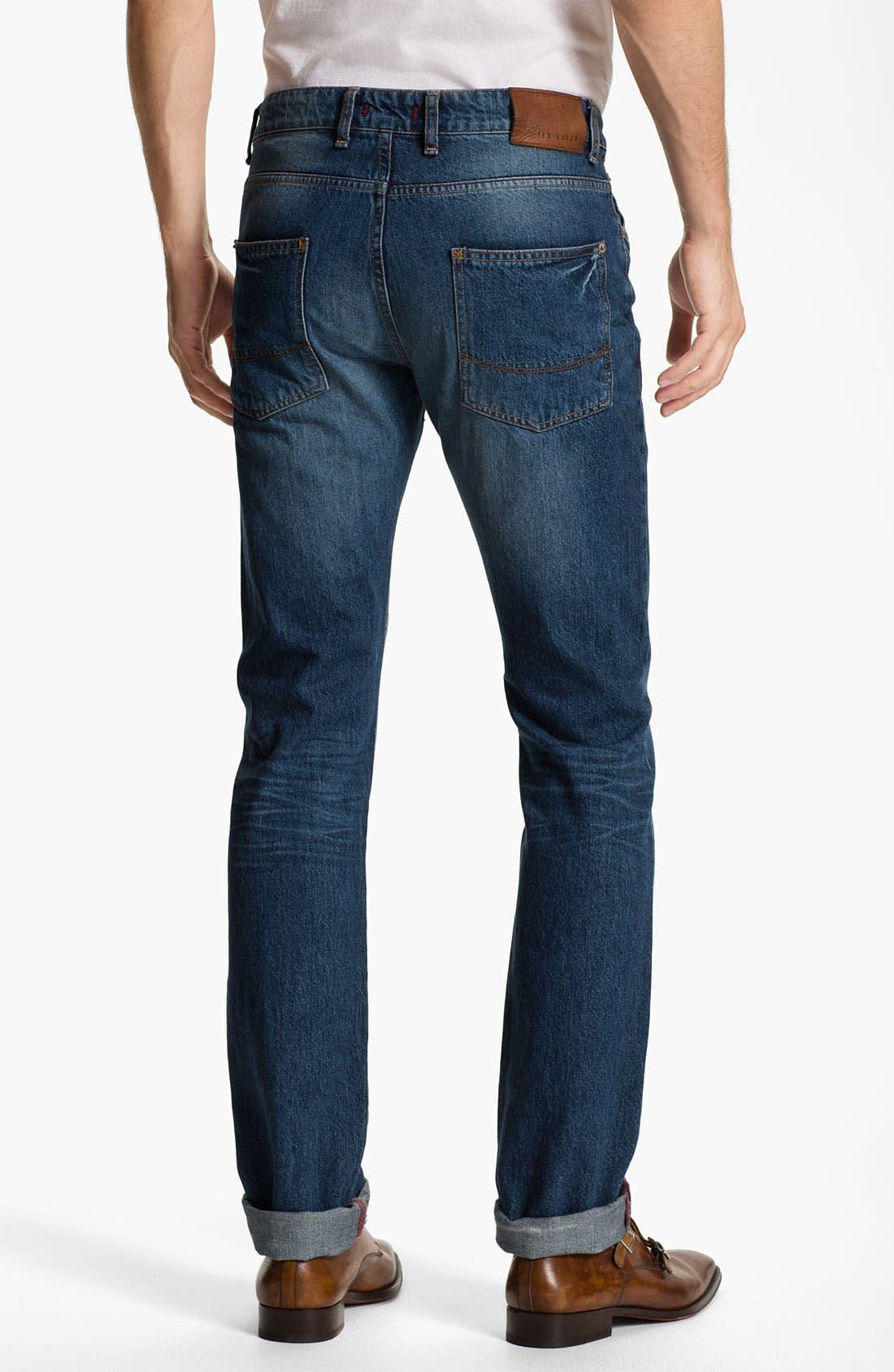 Alternate Image 2  - Ted Baker London 'Slystee' Straight Leg Jeans (Light)