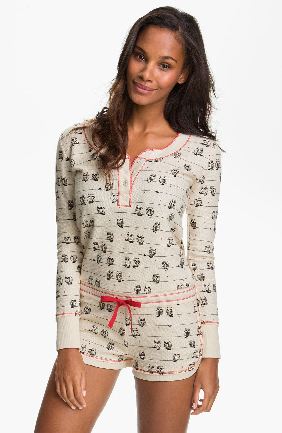 Alternate Image 1 Selected - Kensie 'Quite the Character' Thermal Knit Romper
