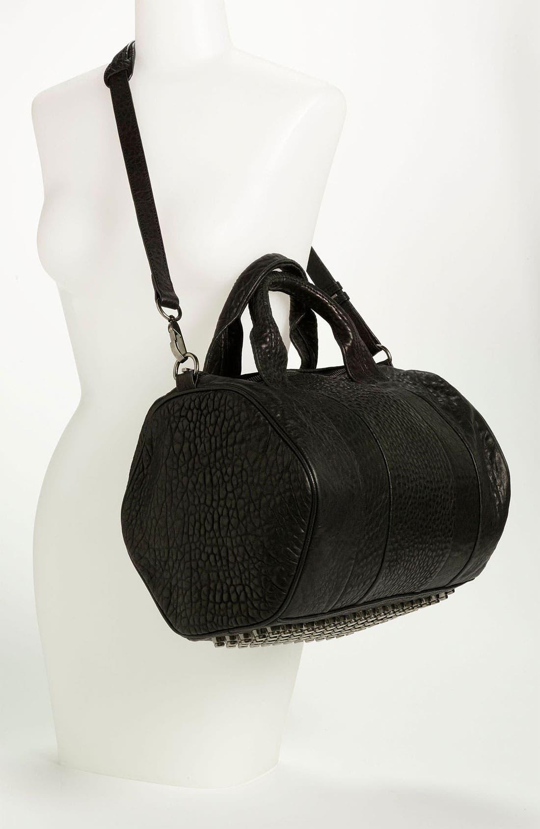 Alternate Image 2  - Alexander Wang 'Rocco - Black Nickel' Leather Satchel