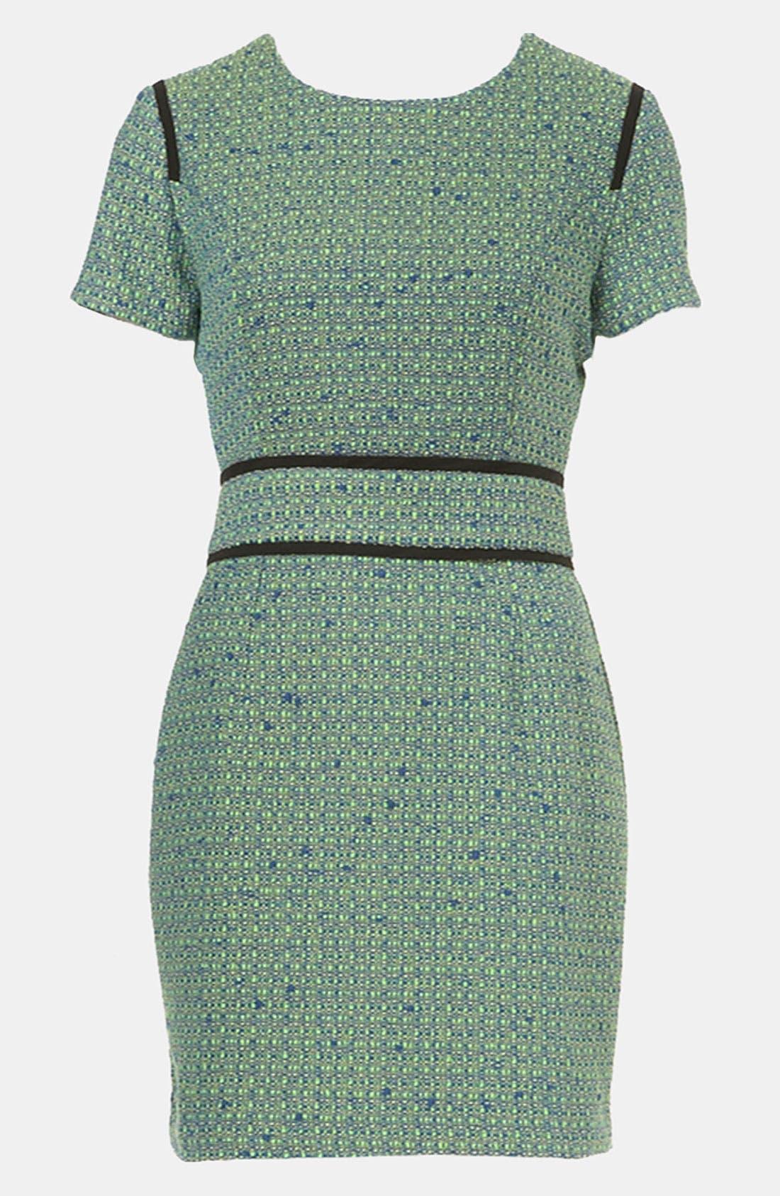 Alternate Image 1 Selected - Topshop Bouclé Pencil Dress
