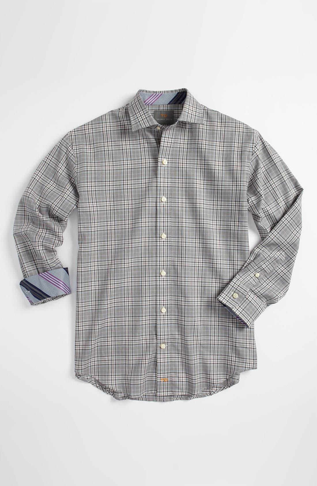 Alternate Image 1 Selected - Thomas Dean Dress Shirt (Big Boys)