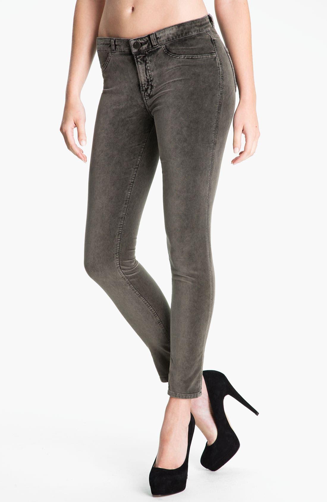 Main Image - J Brand Stretch Velvet Leggings