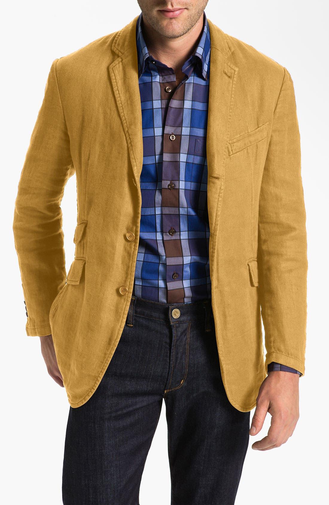 Alternate Image 1 Selected - Robert Talbott 'Ventana' Linen Sportcoat