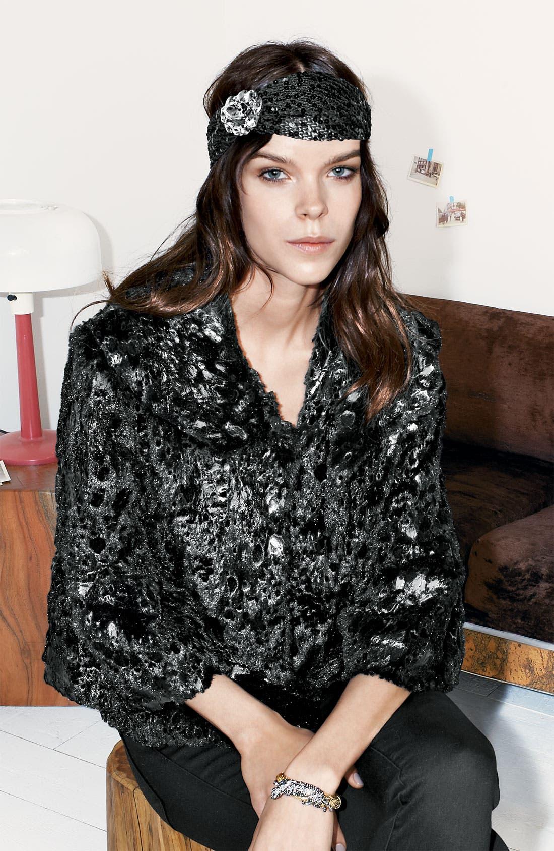 Alternate Image 3  - Collection 'Gilda' Faux Fur Cape Jacket