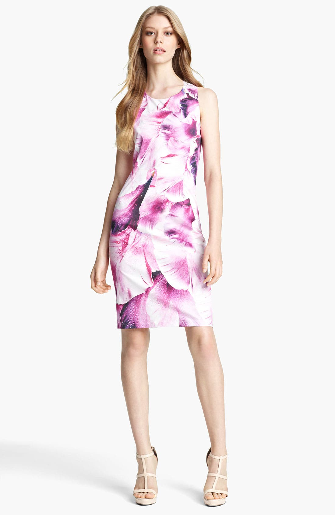 Alternate Image 1 Selected - Roberto Cavalli Print Stretch Cotton Dress