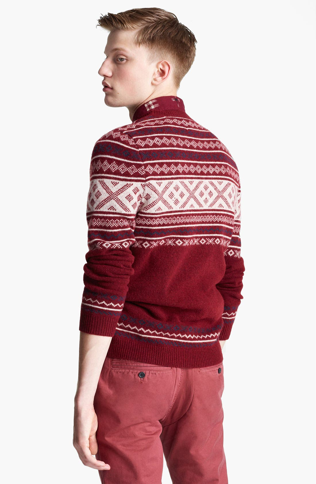 Alternate Image 2  - Topman 'Cherry Cross' Fair Isle Crewneck Sweater