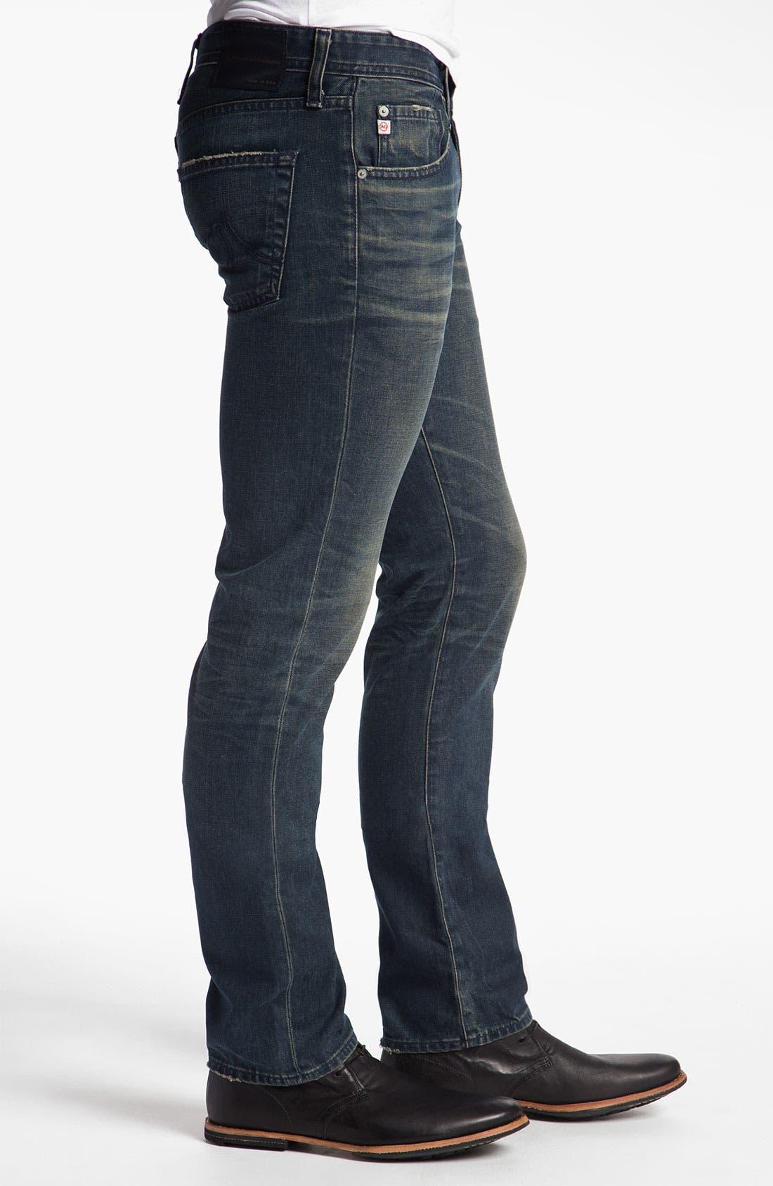Alternate Image 3  - AG Jeans 'Matchbox' Slim Straight Leg Jeans (7 Year Coated Navy)