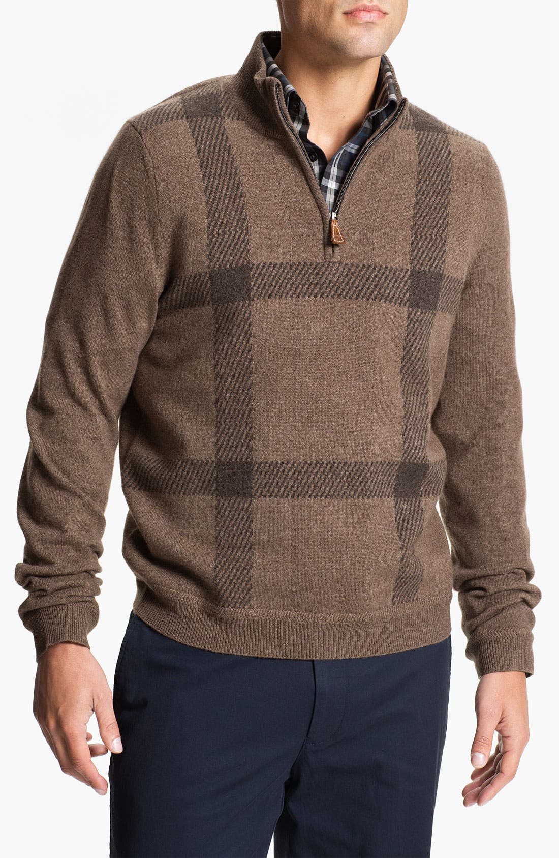Alternate Image 1 Selected - John W. Nordstrom® Quarter Zip Cashmere Sweater