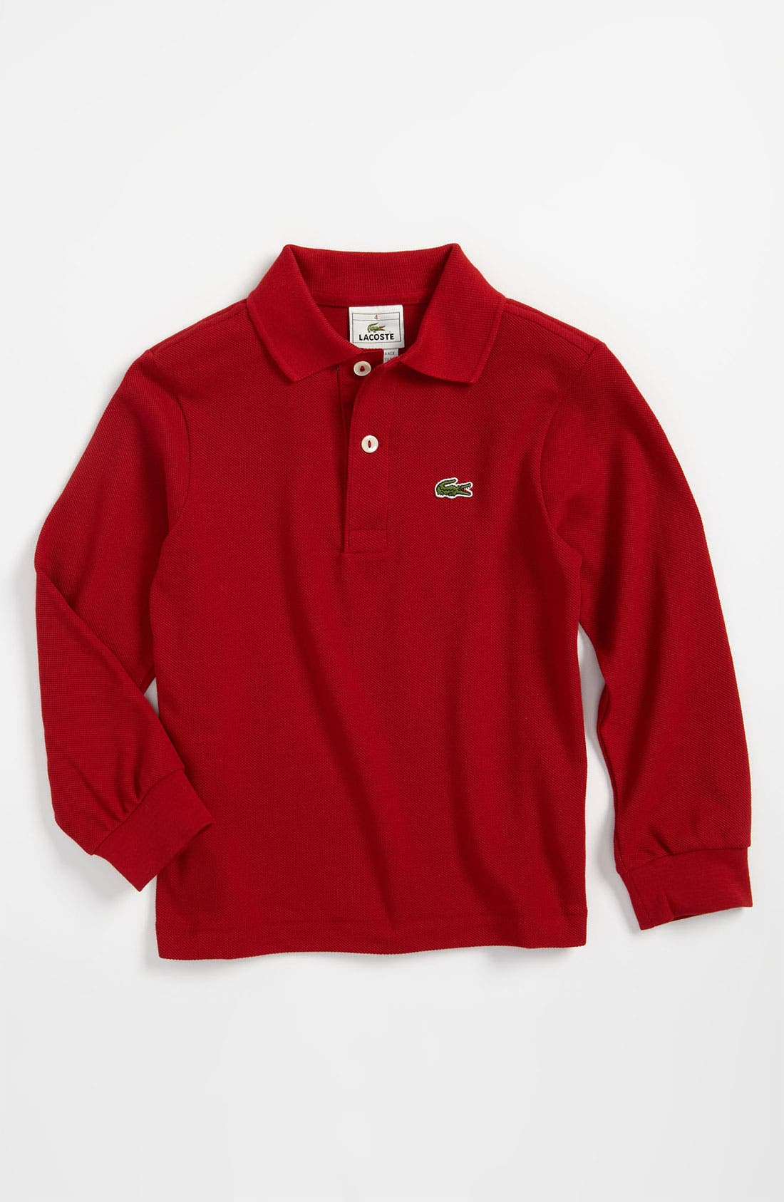 Main Image - Lacoste Classic Long Sleeve Piqué Polo (Toddler)