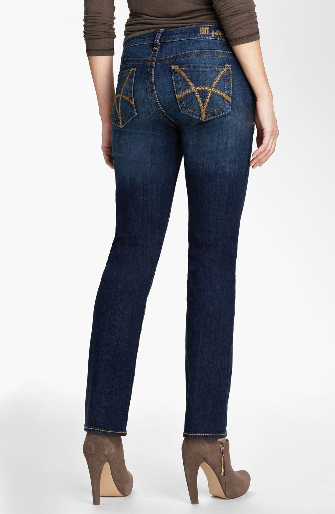 Alternate Image 2  - KUT from the Kloth 'Stevie' Straight Leg Jeans (Gratitude) (Online Only)