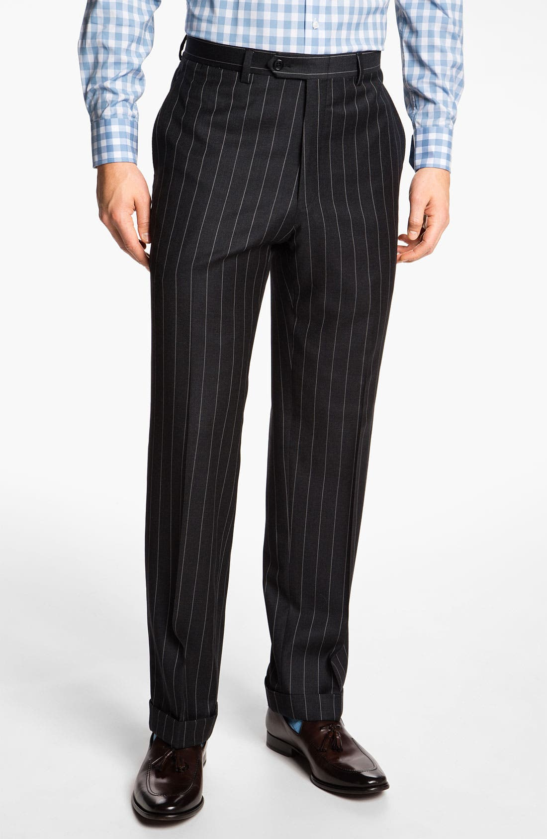 Alternate Image 4  - Hart Schaffner Marx Stripe Wool Suit