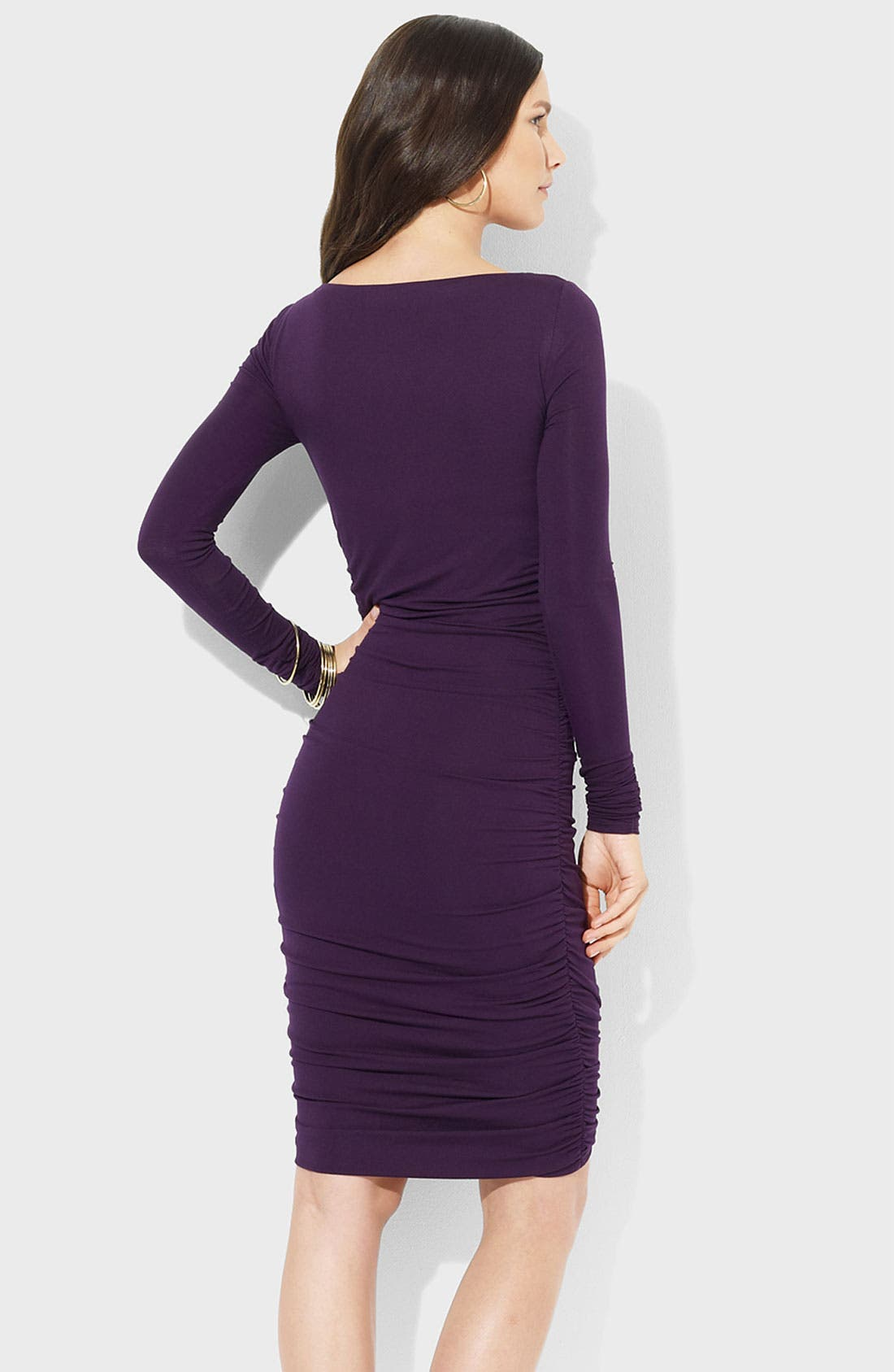 Alternate Image 2  - Lauren Ralph Lauren Ruched Jersey Sheath Dress
