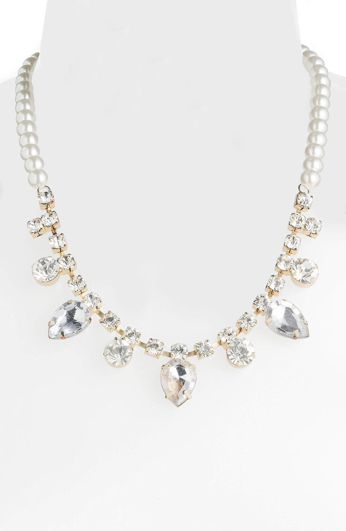 Alternate Image 1 Selected - Stephan & Co. Rhinestone & Faux Pearl Necklace
