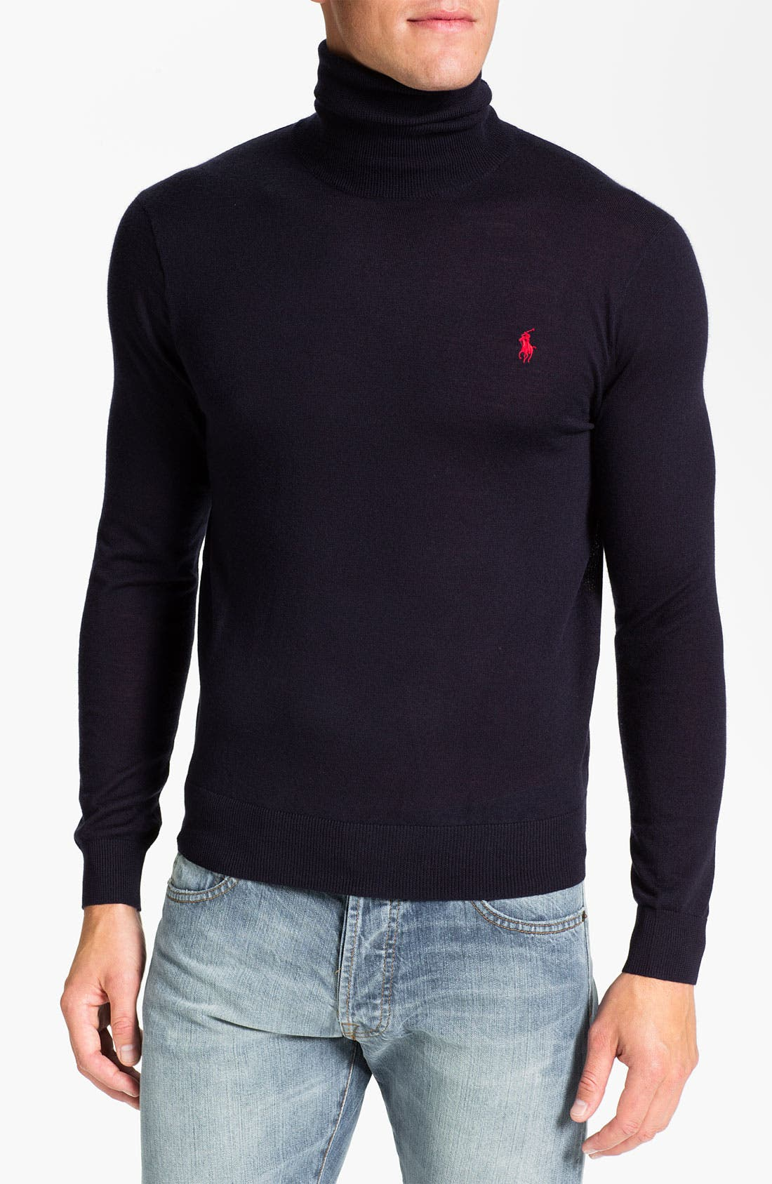 Main Image - Polo Ralph Lauren Classic Fit Merino Wool Turtleneck Sweater