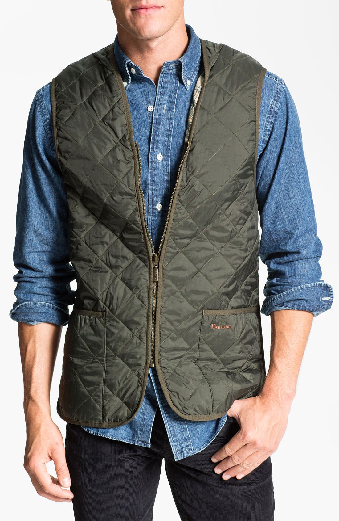 Alternate Image 1 Selected - Barbour Quilted Zip-In Liner Vest