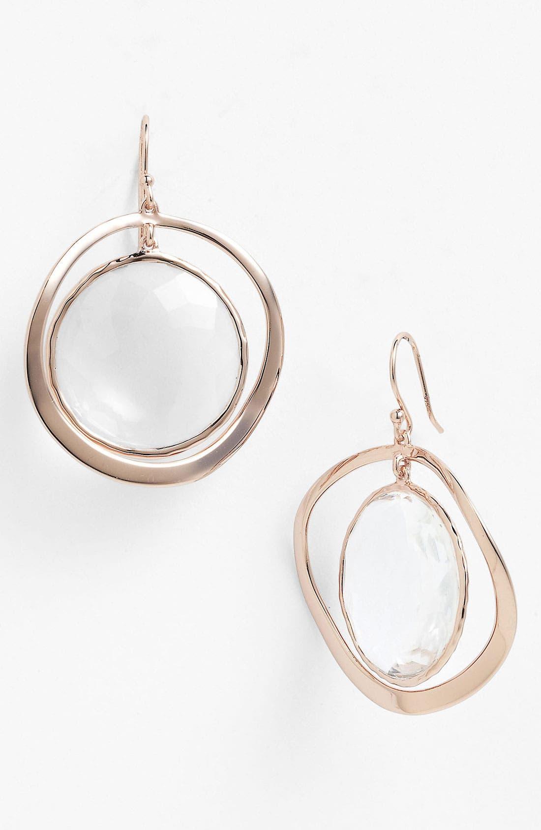Alternate Image 1 Selected - Ippolita 'Lite Links' Round Stone Drop Earrings