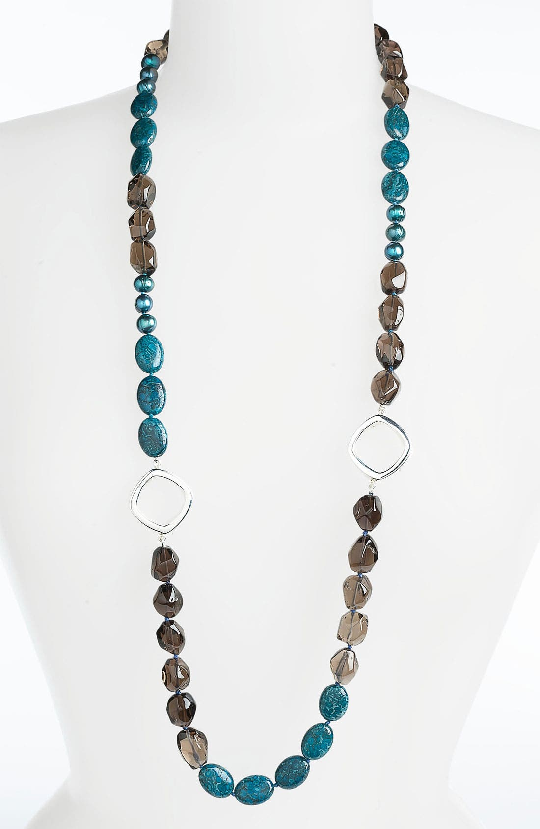 Alternate Image 1 Selected - Simon Sebbag 'Cyan' Long Colorblock Necklace