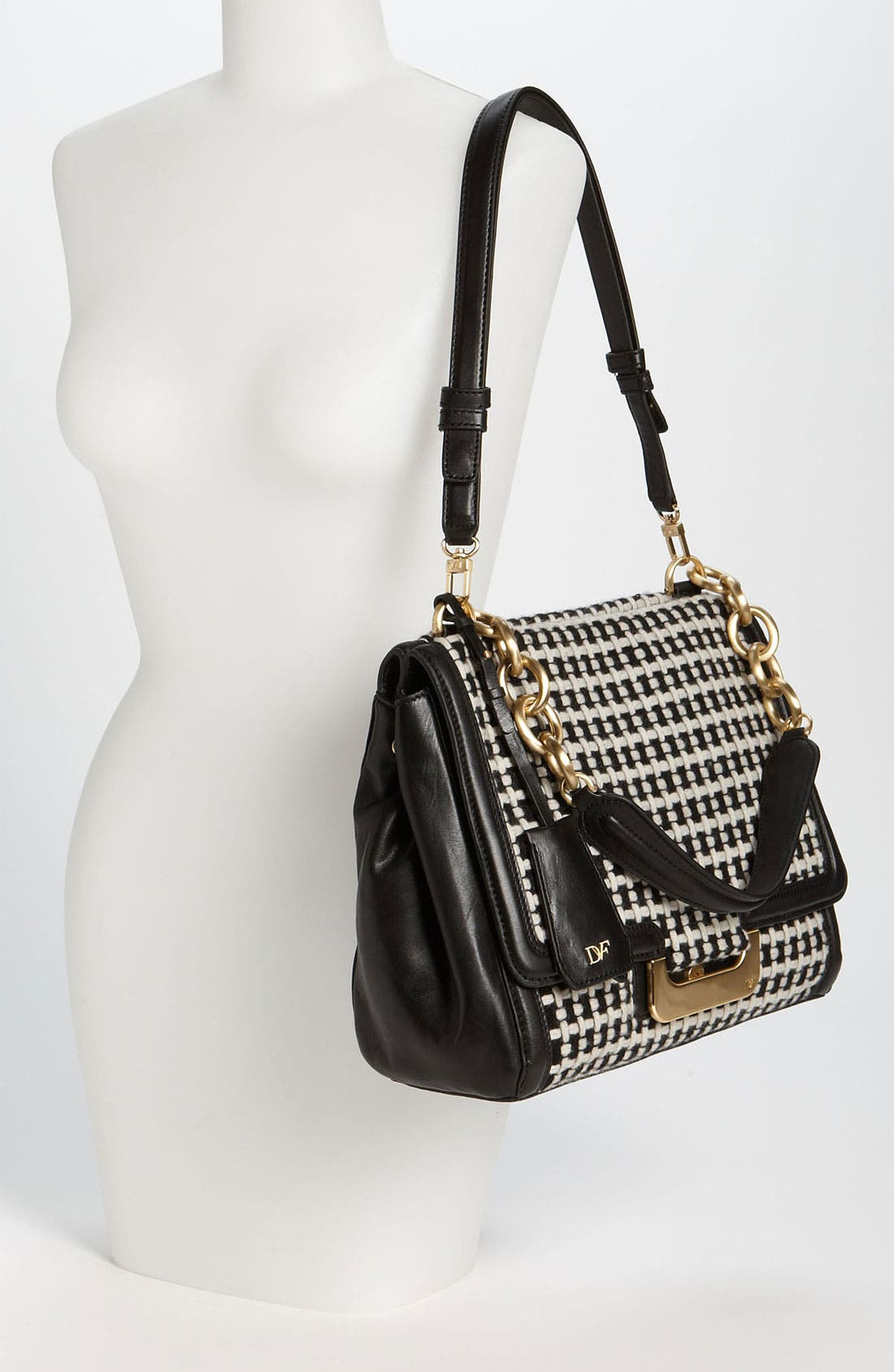 Alternate Image 2  - Diane von Furstenberg 'New Harper' Check Wool  Shoulder Bag