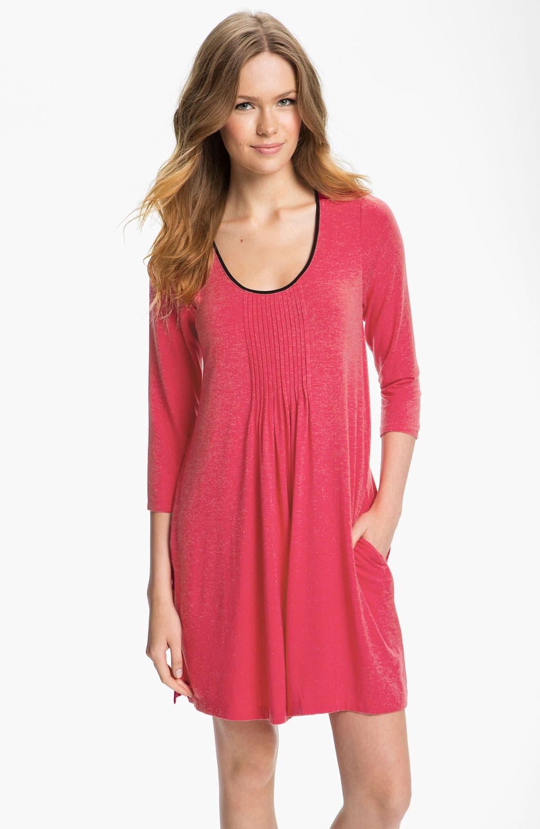 Alternate Image 1 Selected - DKNY '7 Easy Pieces' Pintuck Sleep Shirt