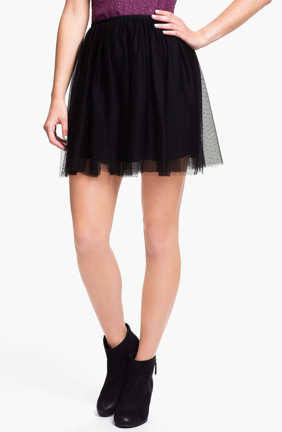 Alternate Image 1 Selected - Frenchi® Tulle Skirt (Juniors)