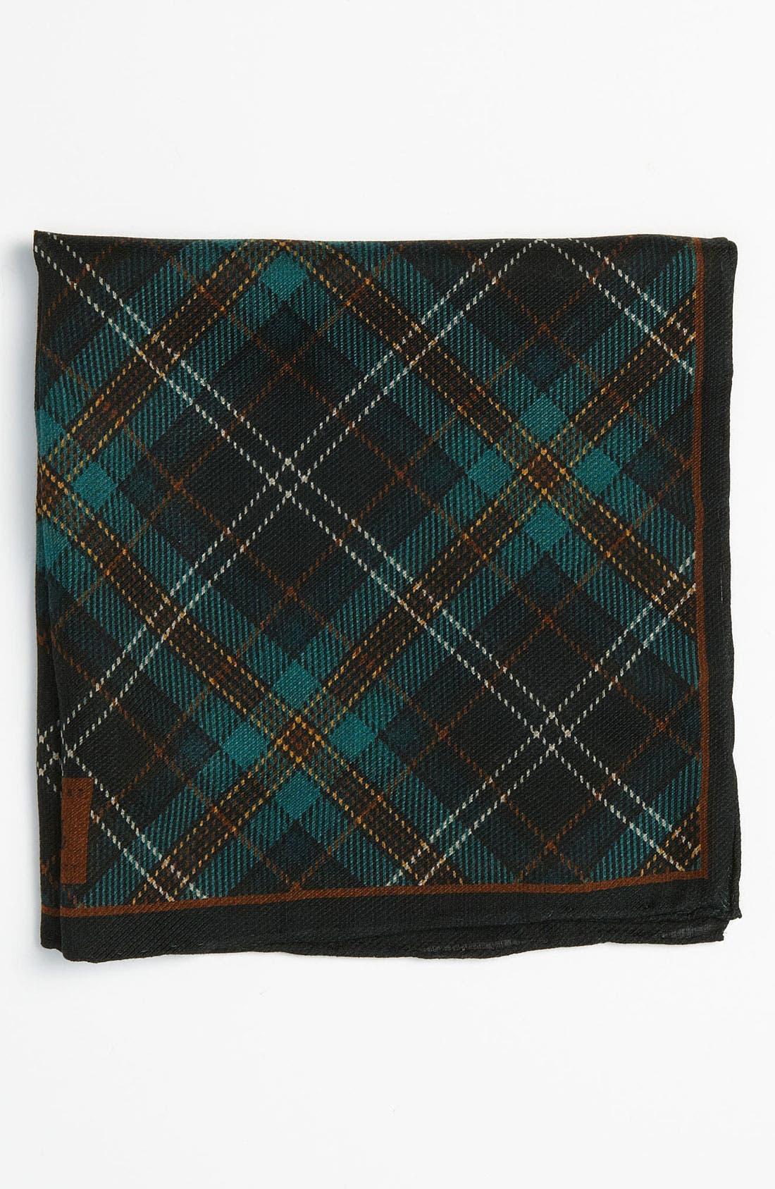 Alternate Image 1 Selected - Robert Talbott Silk & Wool Pocket Square