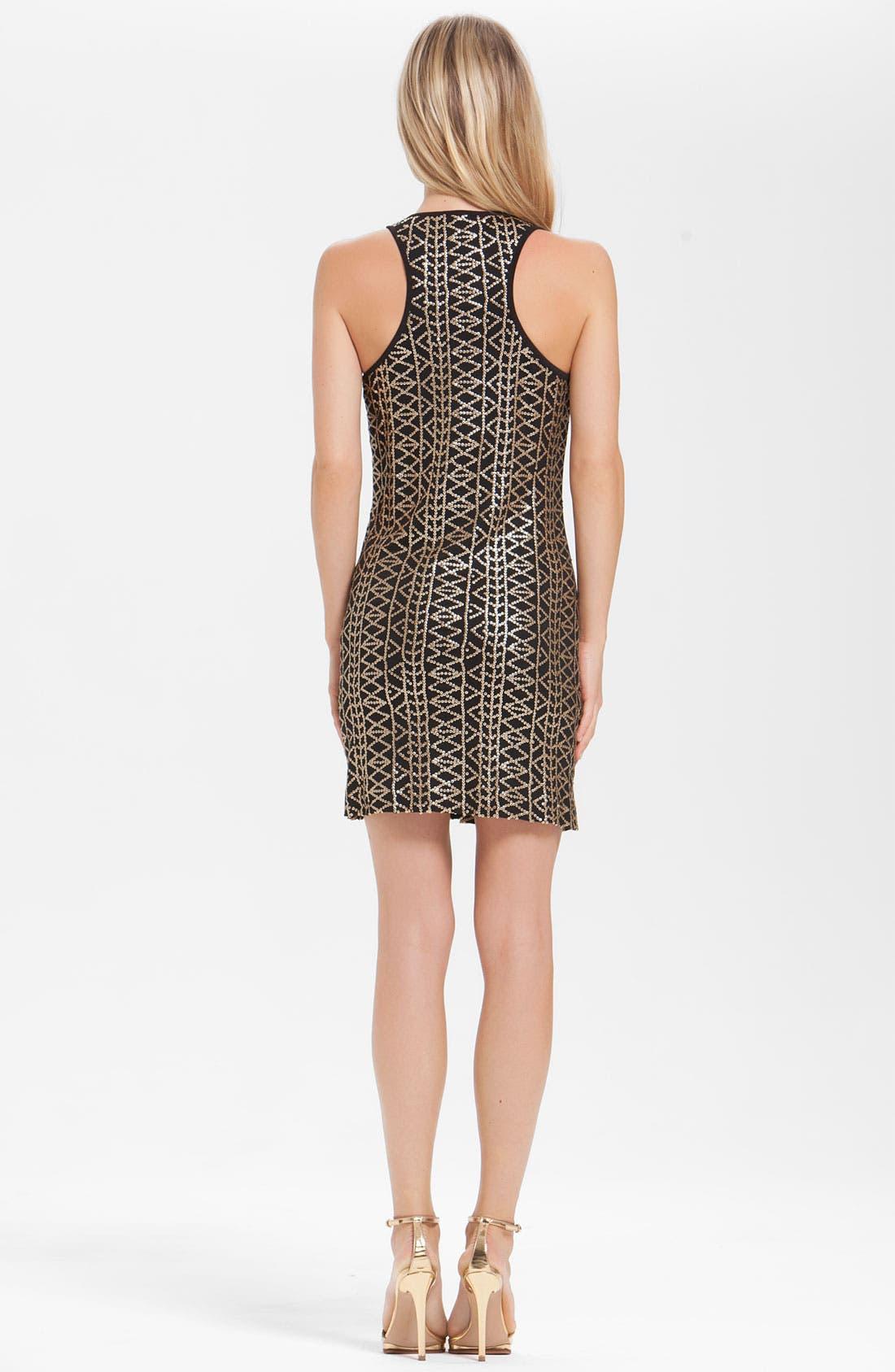 Alternate Image 2  - Laundry by Shelli Segal Geometric Sequin Tank Dress