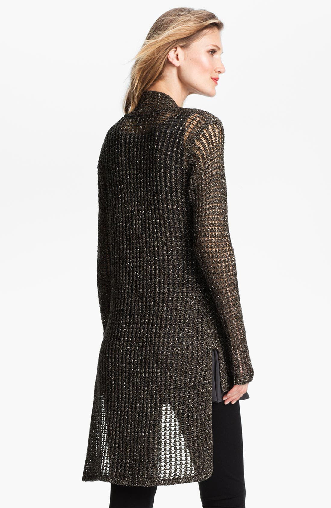 Alternate Image 2  - Eileen Fisher Sparkle Mesh Cardigan
