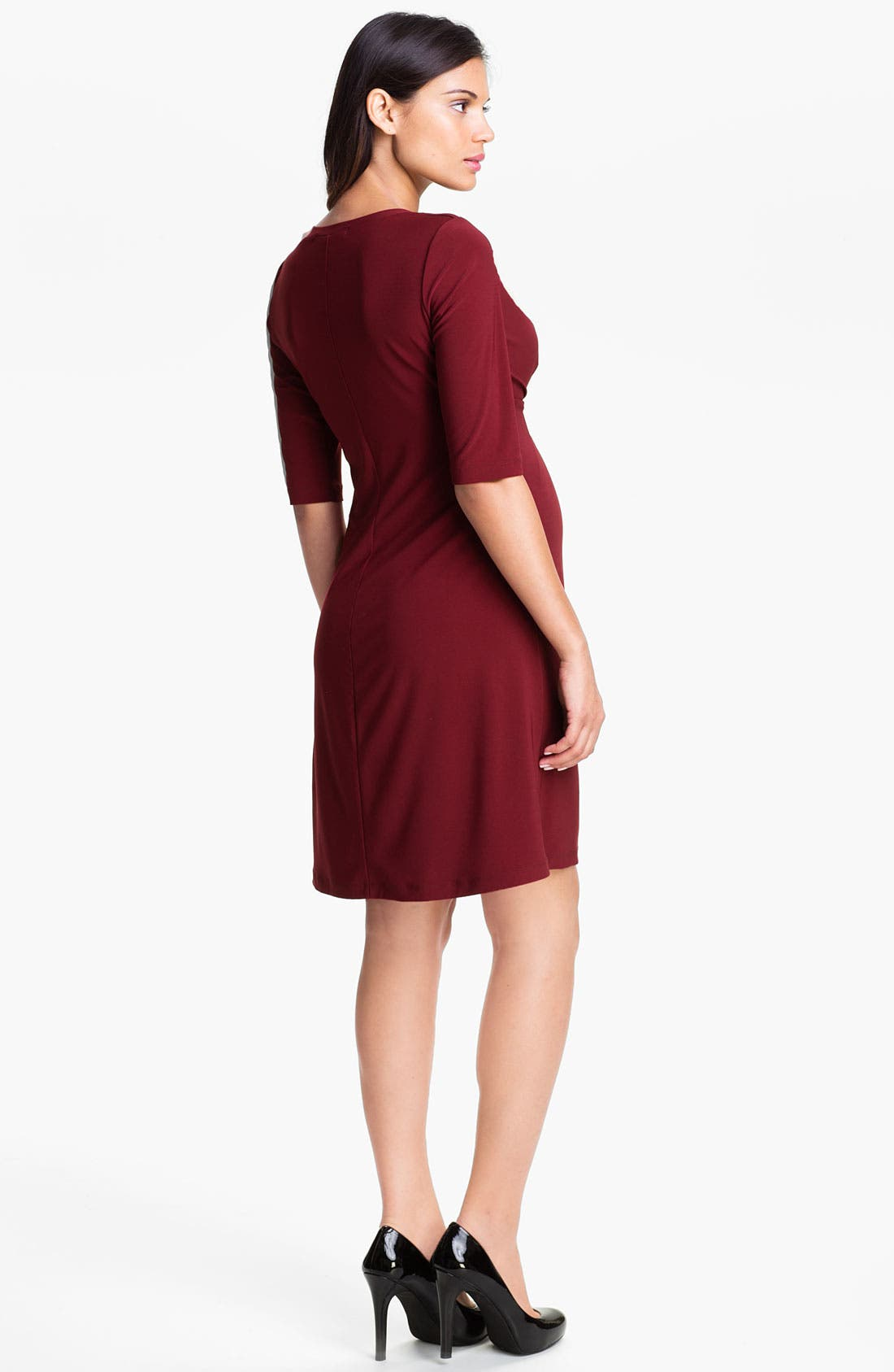 Alternate Image 2  - Japanese Weekend Sweep Pleat Maternity Dress